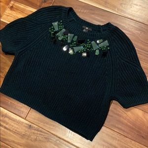 🛍3 for $15 H&M Chunky Knit Embellish Crop Sweater